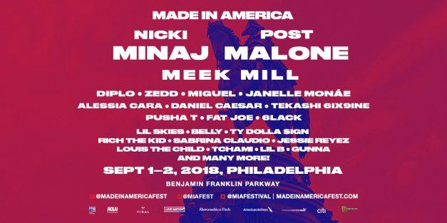 Made In America 2018 September 1st & 2nd