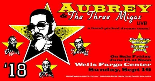 Drake @ Wells Fargo Center September 16th