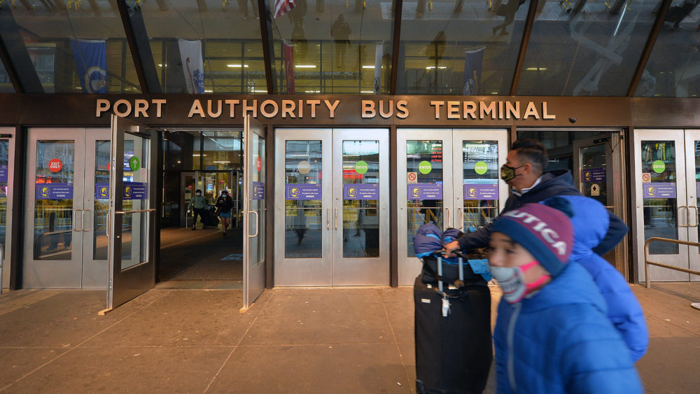 The Port Authority Bus Terminal in New York