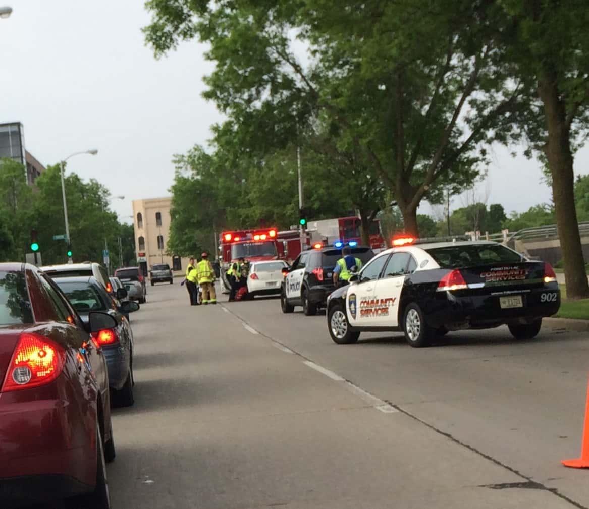 5-26-15 Minor Auto Crash Ties Up Traffic Near Fdl Downtown