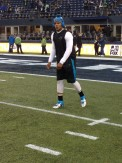 Cam Newton warmup