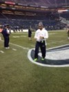 Russell Wilson warmup