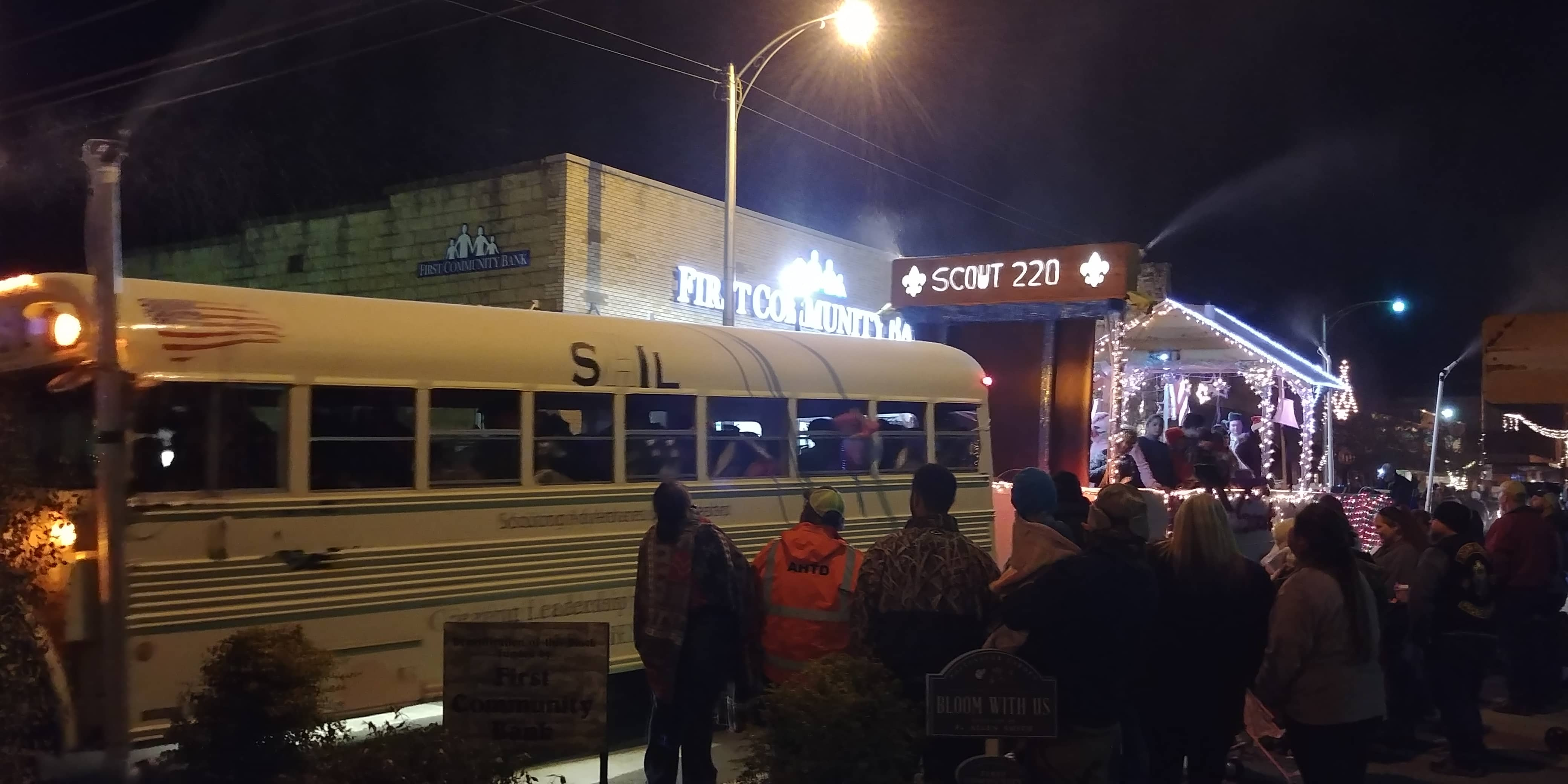 Batesville Christmas Parade Bus
