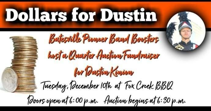 Batesville Band fundraiser flyer