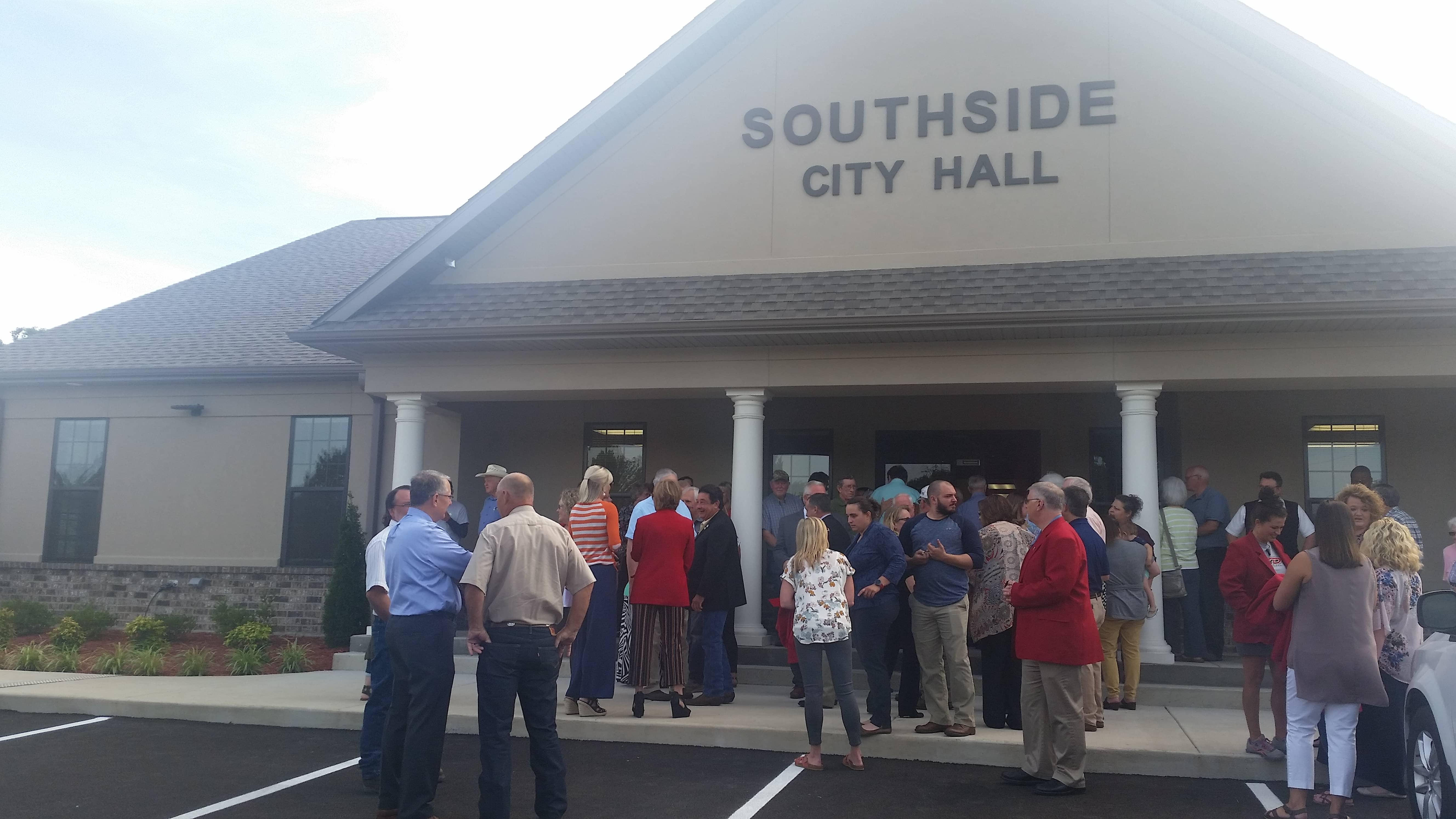Southside City Hall open house outside