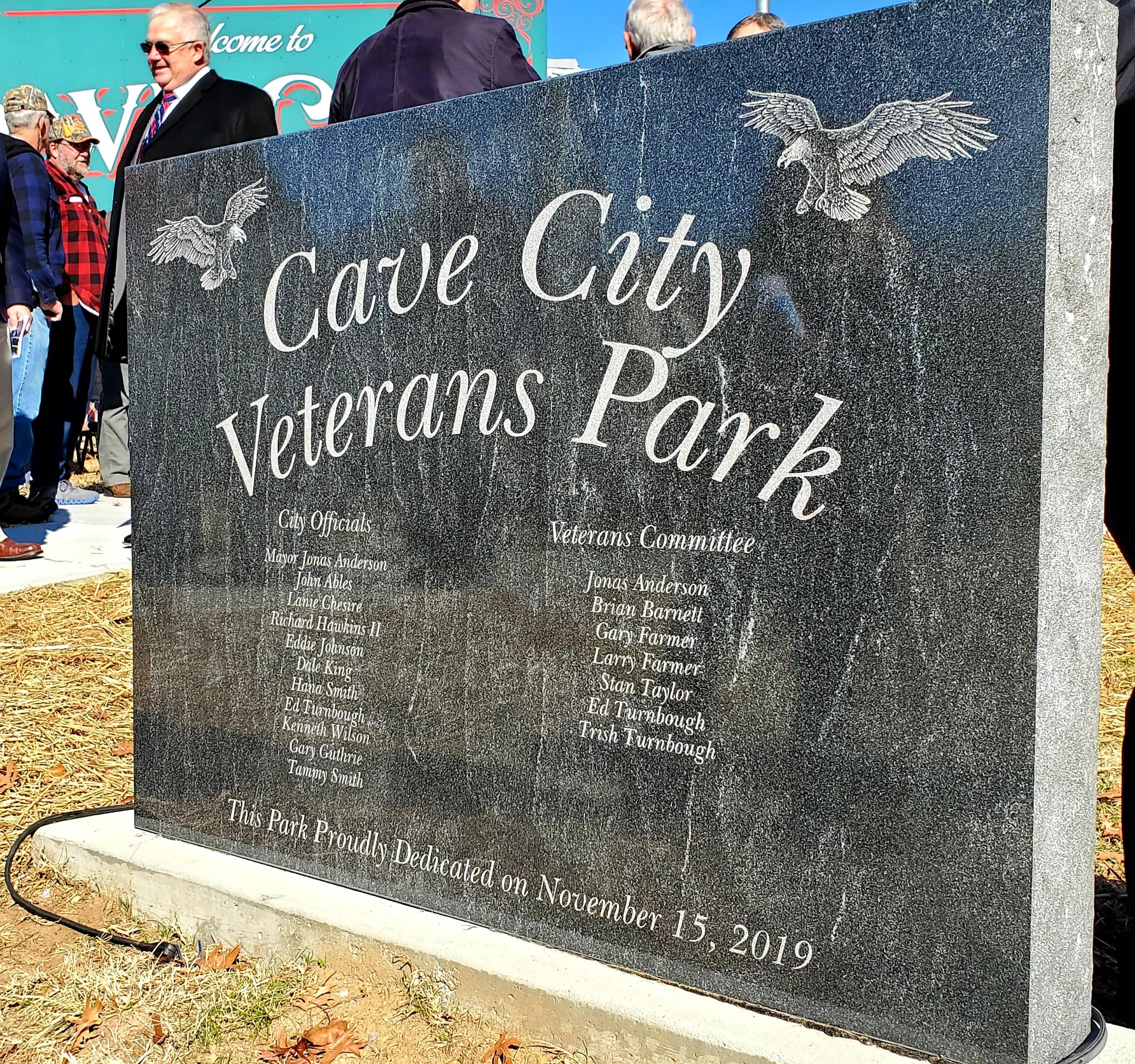 Welcoome Stone at New Cave City Veteran Memoral.jpg