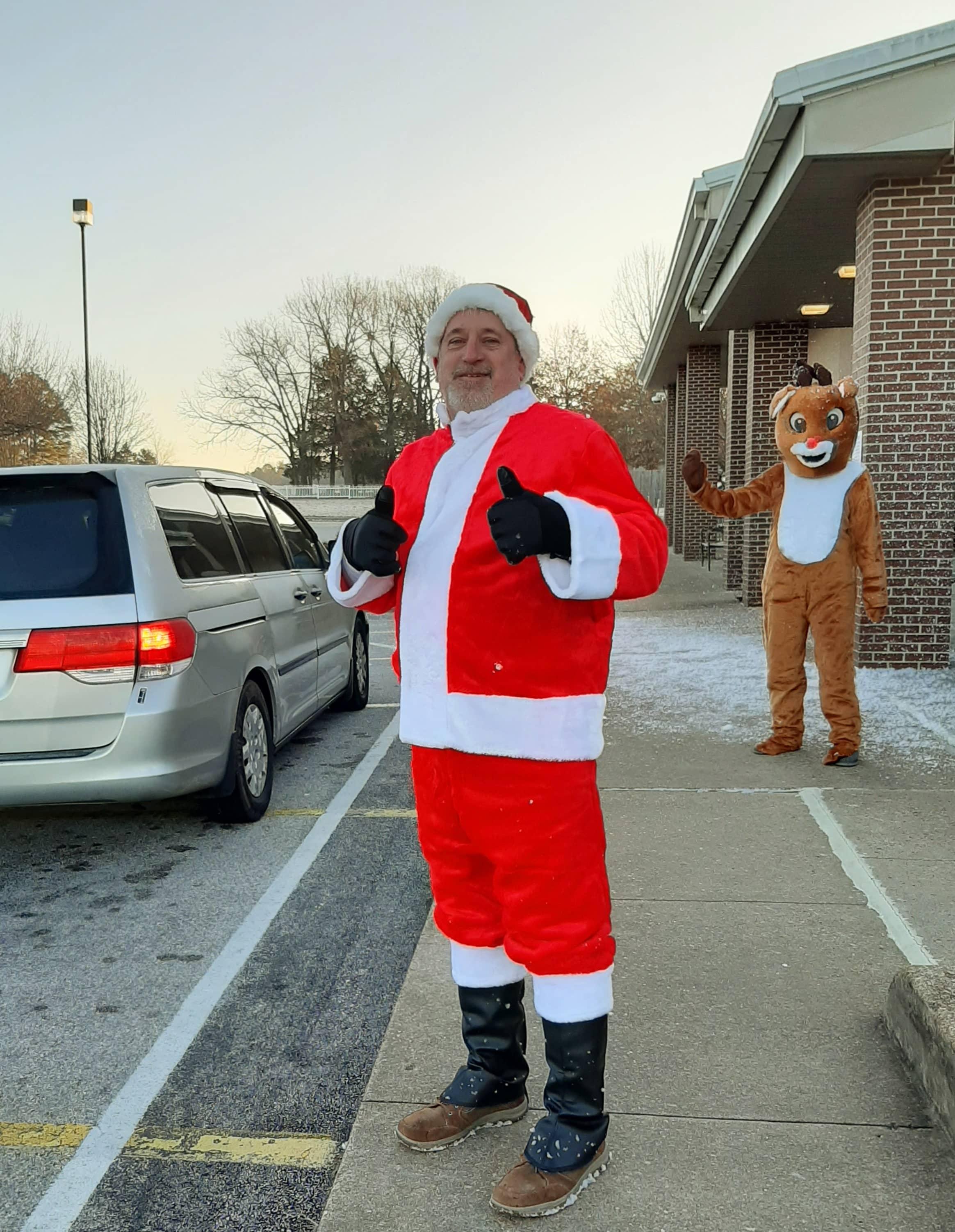 Mr. D as Santa