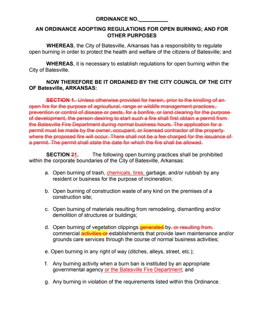 Reed's Proposed Burn Ordinance Page 1