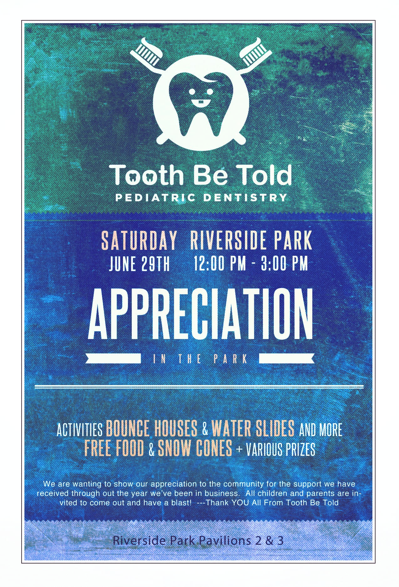Tooth Be Told Appreciation in the Park 2019
