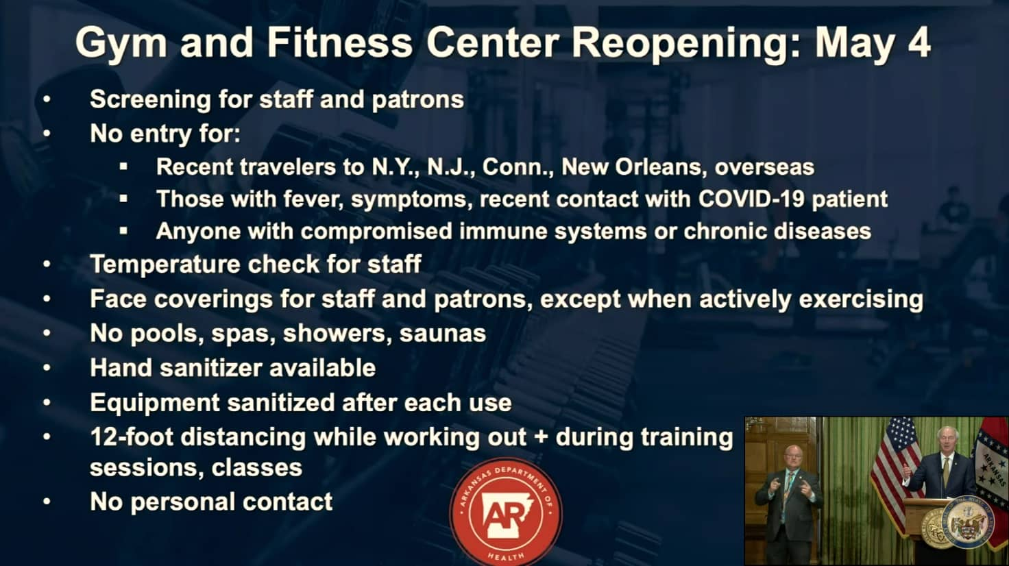 GYM AND FITNESS GUIDELINES