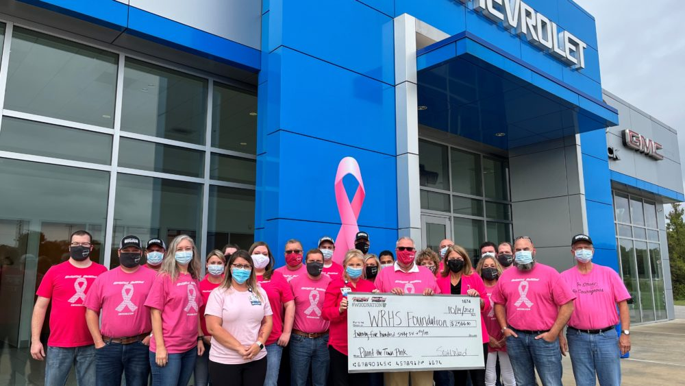 Wood Family of Dealerships helps with 'Paint the Town Pink' project