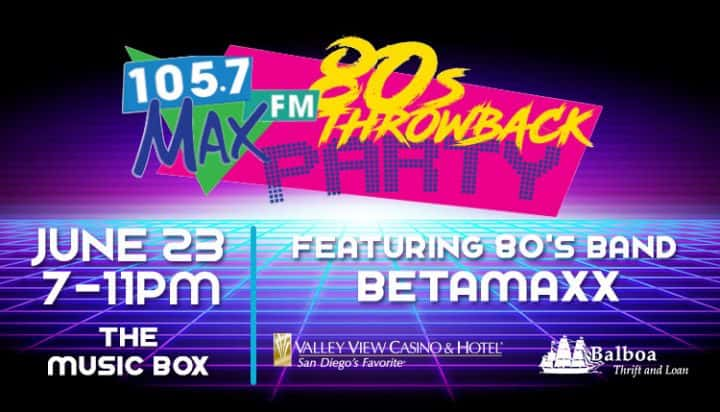 Max Throwback Party
