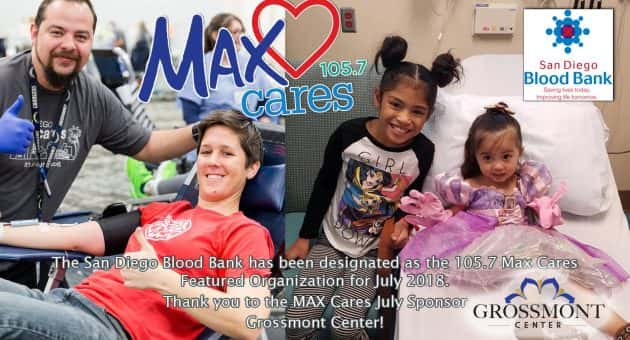 Max Cares: San Diego Blood Bank