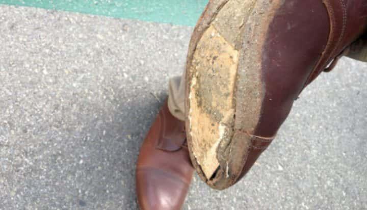 JJ broken shoes