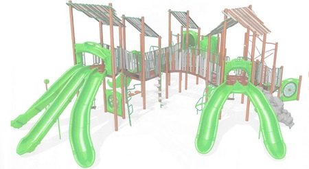 East Side Park new playground equipment bigger