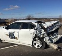 state police cruiser hit by semi on feb 3 2016 1