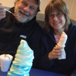 Julie Fithian: having ice cream with my honey