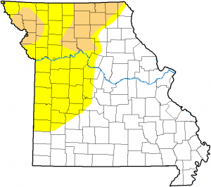 Northwest Missouri Map.Second Drought Patch Emerges In Northwest Mo Westcentralmoinfo