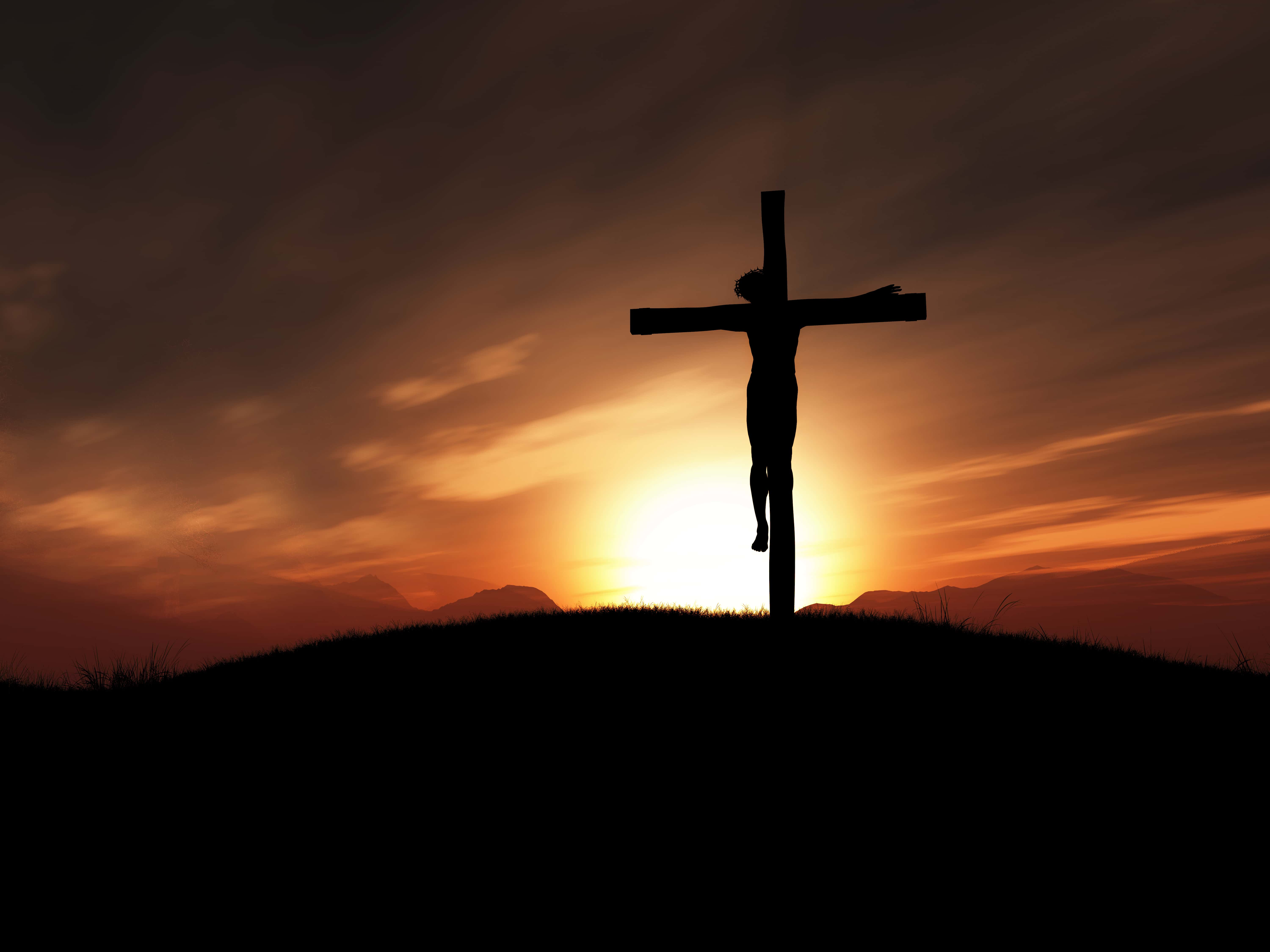3d Image Of Jesus On The Cross At Sunset Discover North Iowa