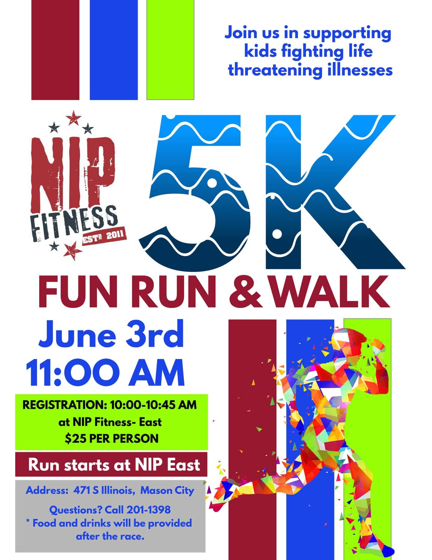 5k fun run walk discover north iowa