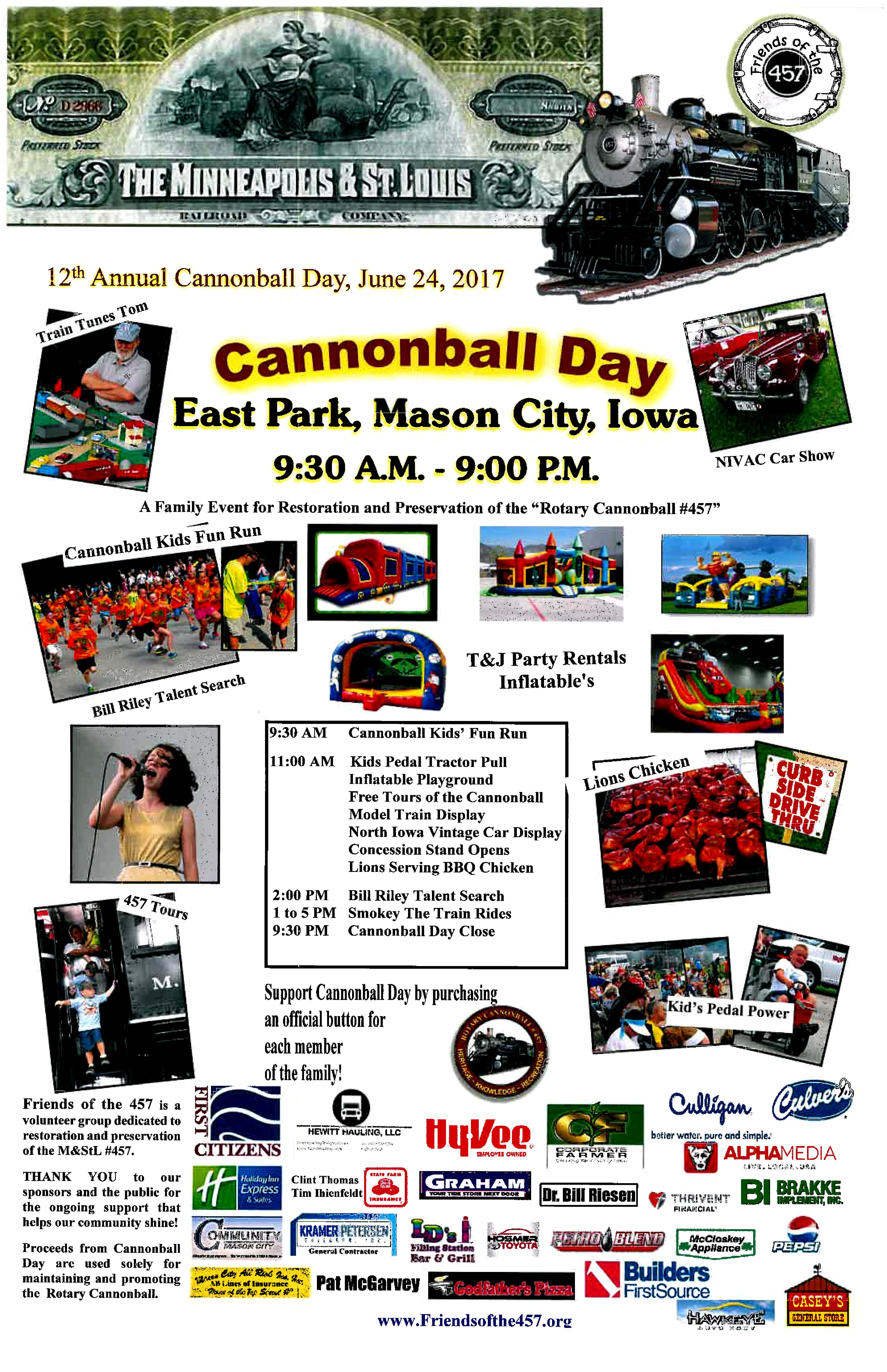 cannoball day flyer large discover north iowa