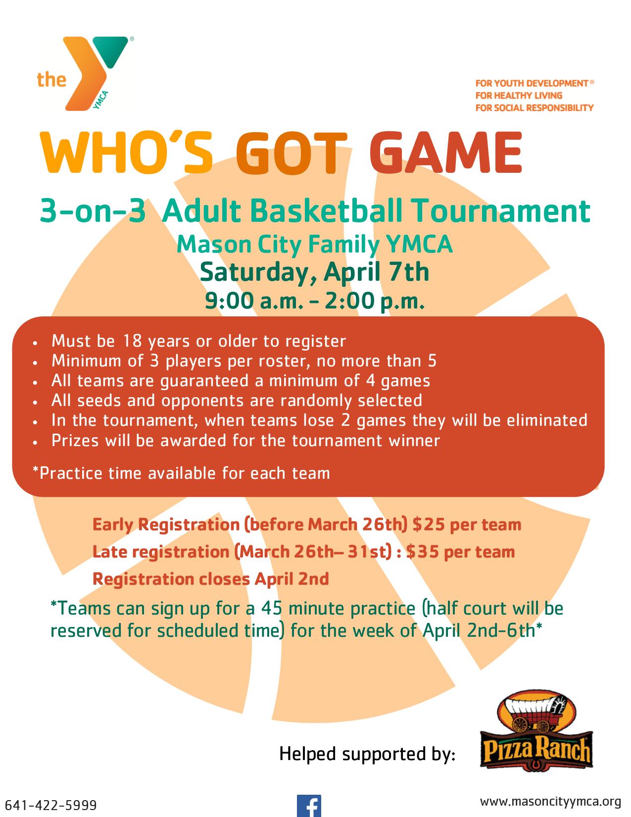 3 On Adult Basketball Tournament