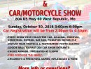 Fall Carnival Car Show Flyer 2016 with service times