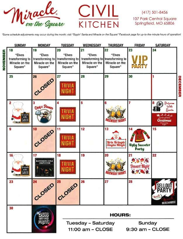 Civil Kitchen\'s Miracle on the Square   104.7 The Cave