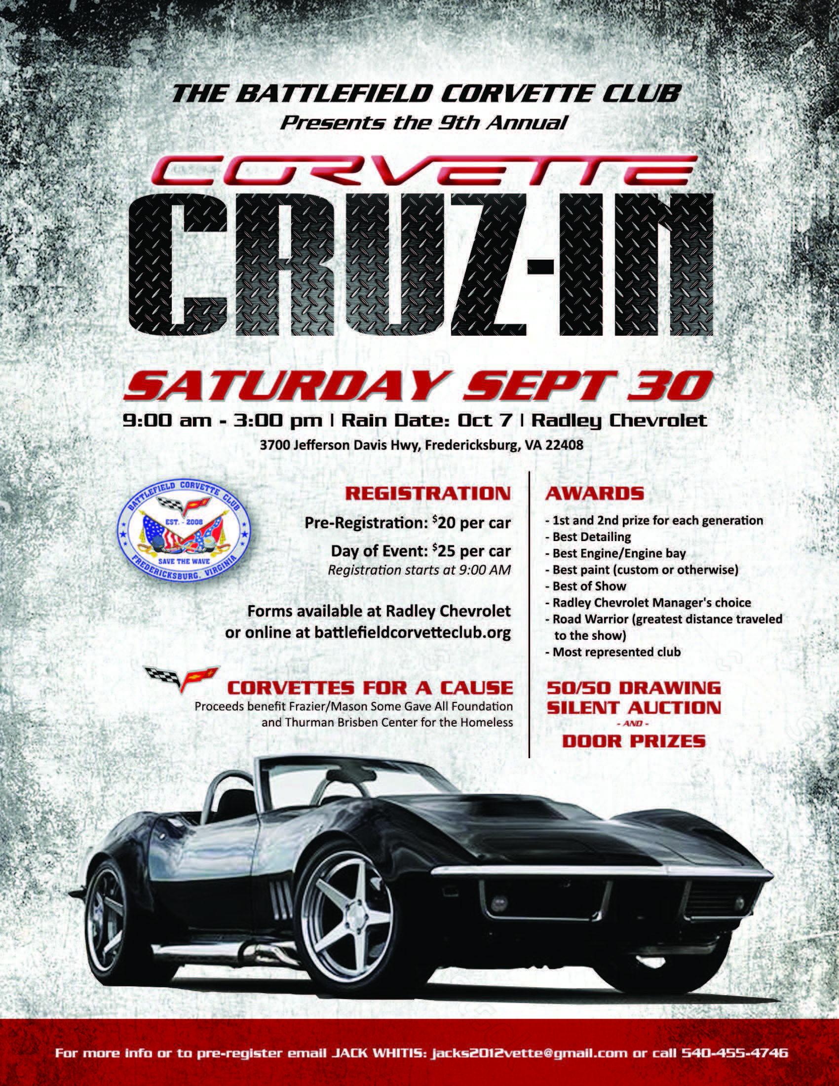 Battlefield Corvette Club, 9th Annual U201cAll Corvetteu201d Charity Car Show