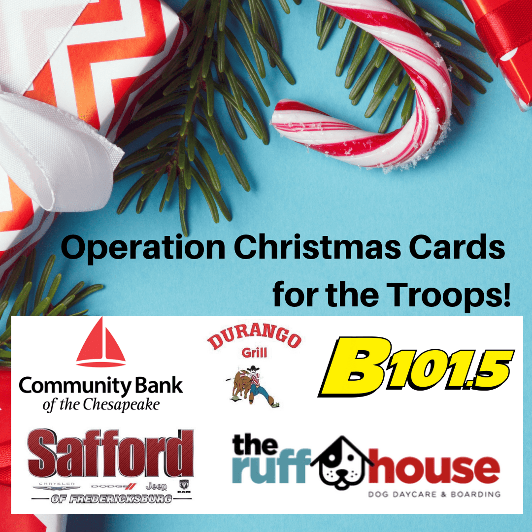Operation Christmas Cards For Troops Overseas 2020 Operation Christmas Cards | B101.5 Today's Best Music