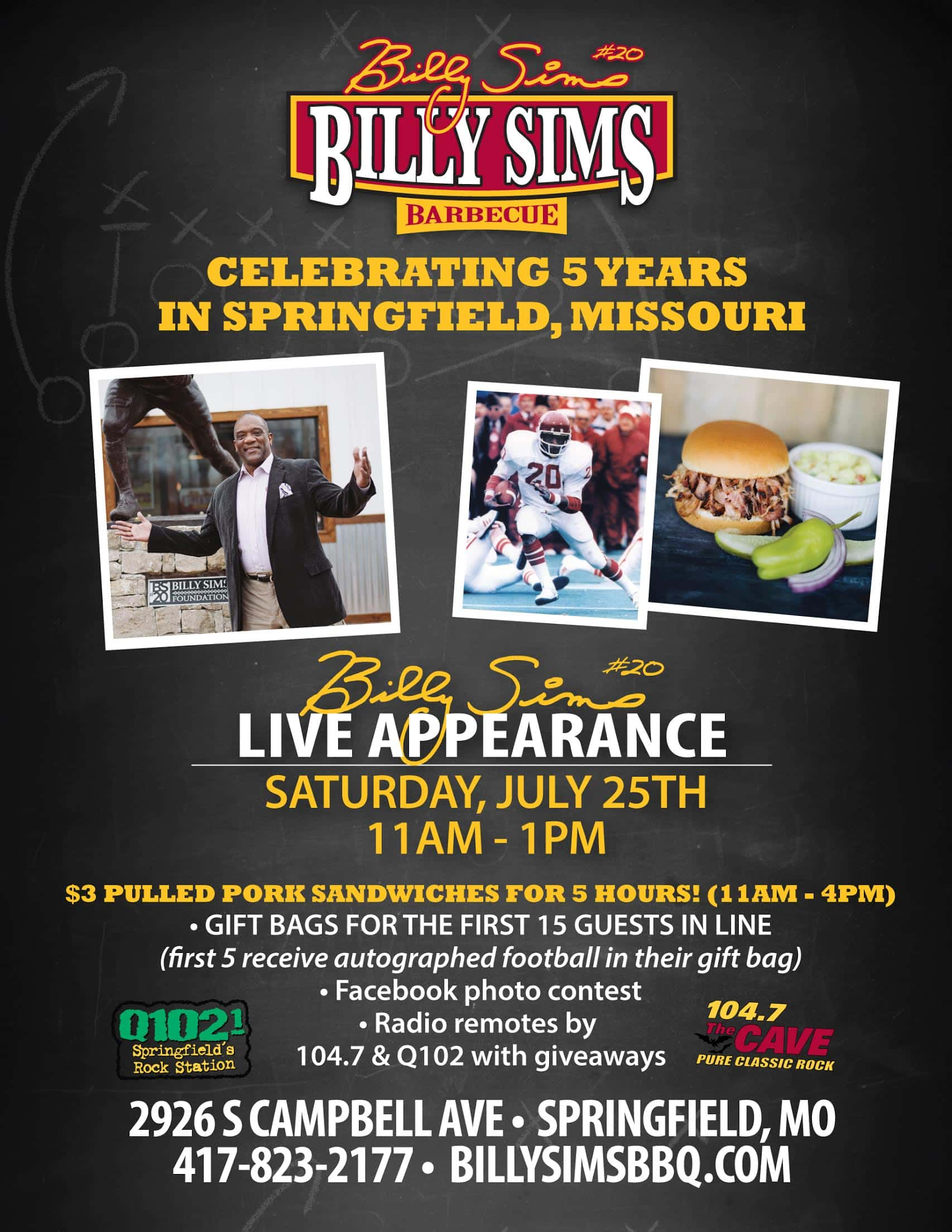 Billy Sims | Q102 Springfield's Rock Station