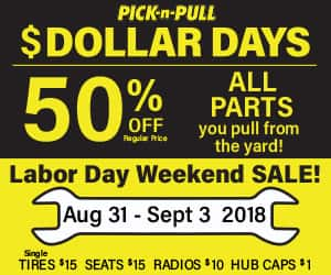 Pick And Pull Labor Day Sale Q102 Springfield S Rock Station