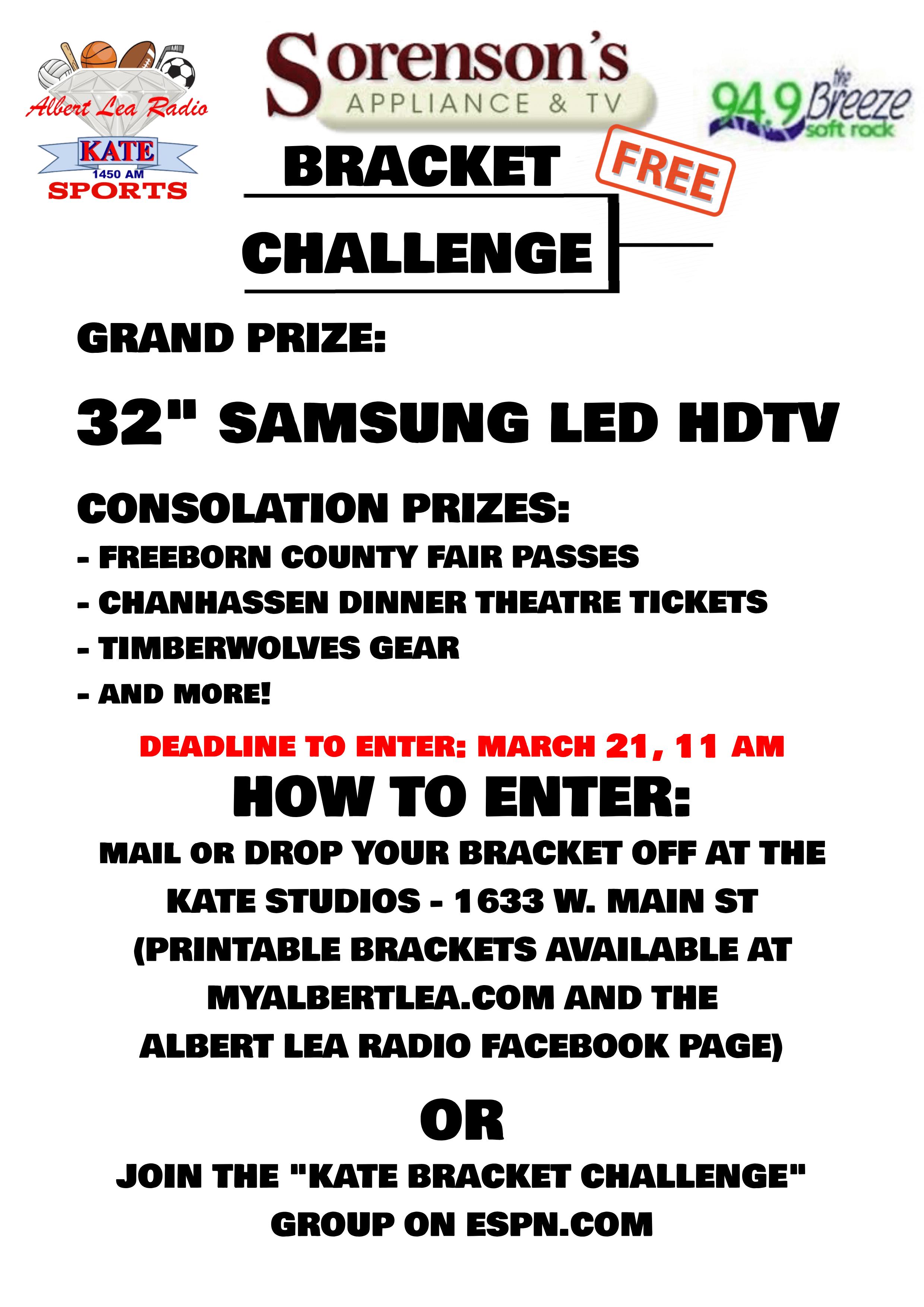 Win A New Tv Join The Sorenson S Appliance Tv Bracket Challenge