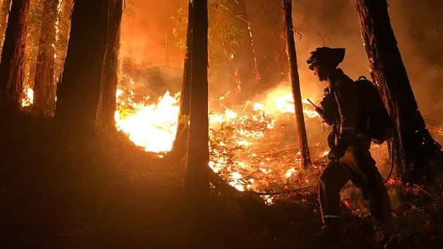 California inmate injured battling wildfires as another