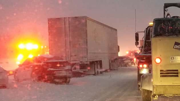 One dead, 1 seriously injured in multi-car pileup in Buffalo
