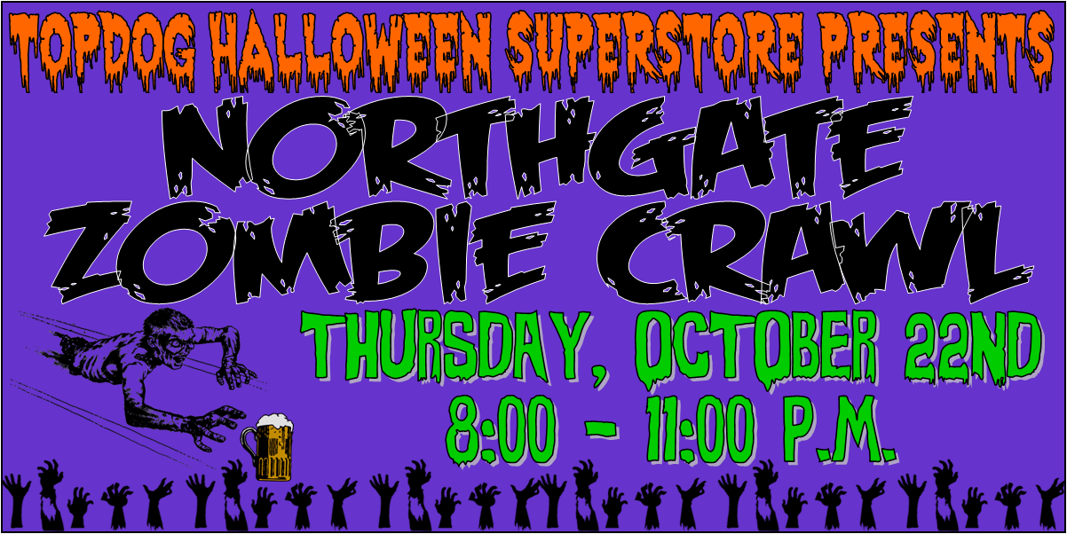 Northgate Halloween 2020 Pub Crawl College Station ZOMBIE CRAWL | KORA 98.3