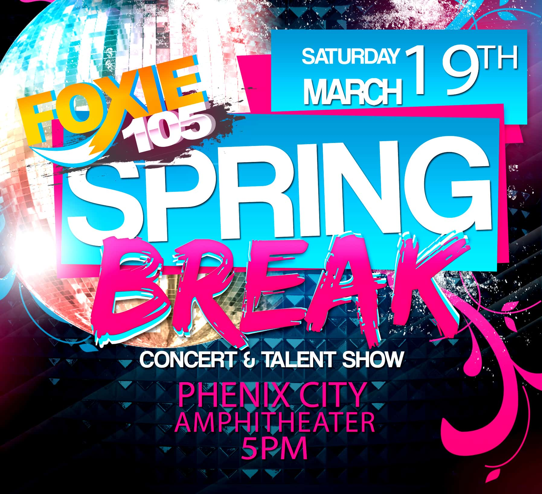 foxie 105 spring break concert and talent show