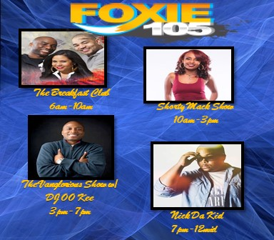 Foxie 105 | #1 For Hip Hop and R&B
