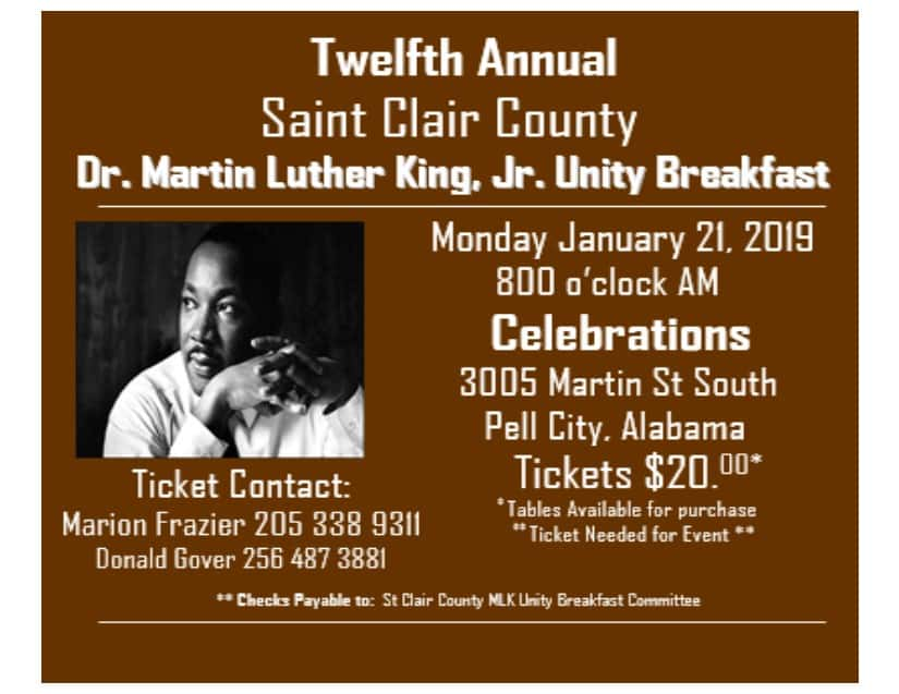 Saint Clair County Dr  Martin Luther King, Jr  Unity Breakfast