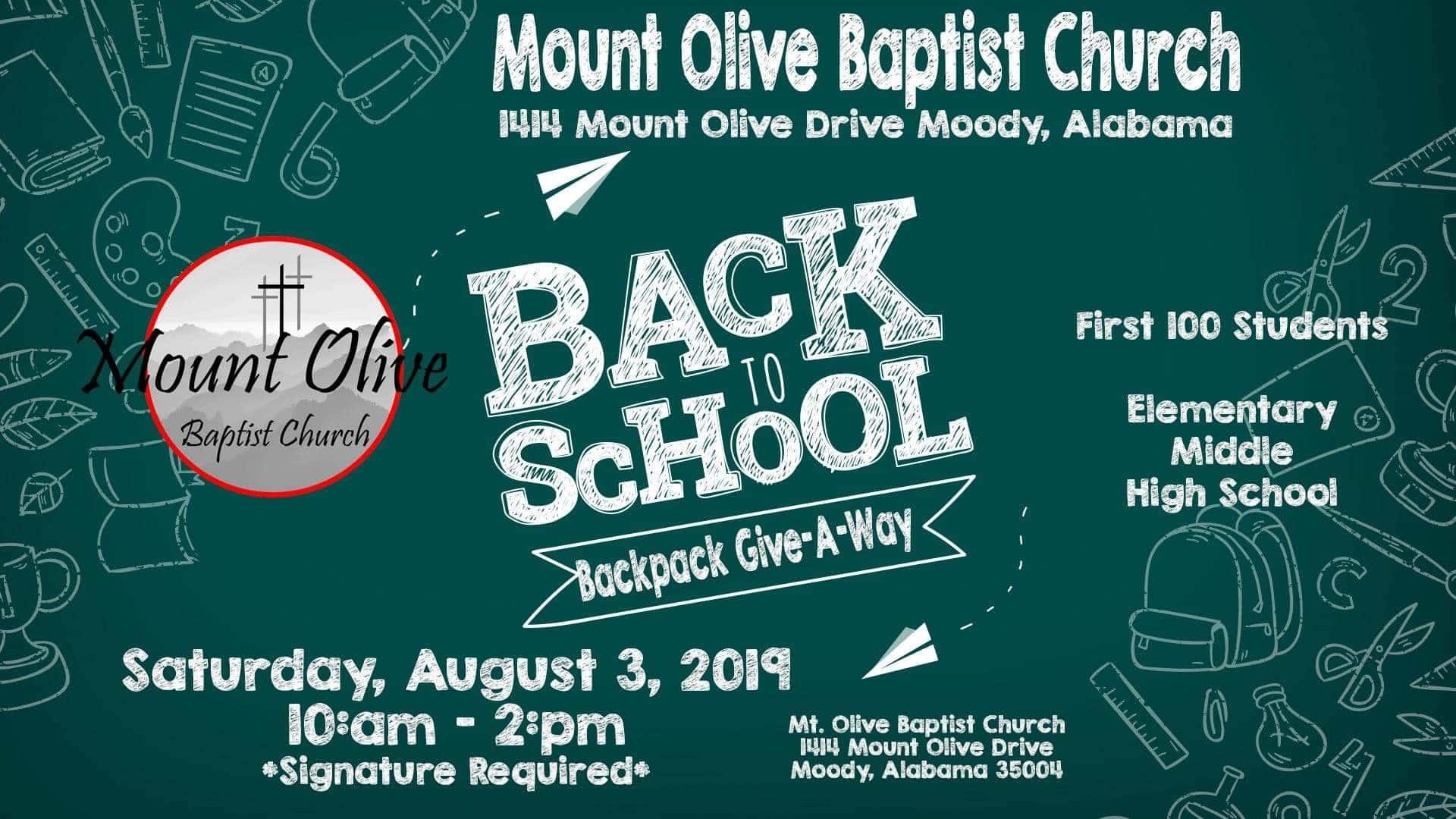 Mt  Olive Baptist Church   WAGG   610 WAGG