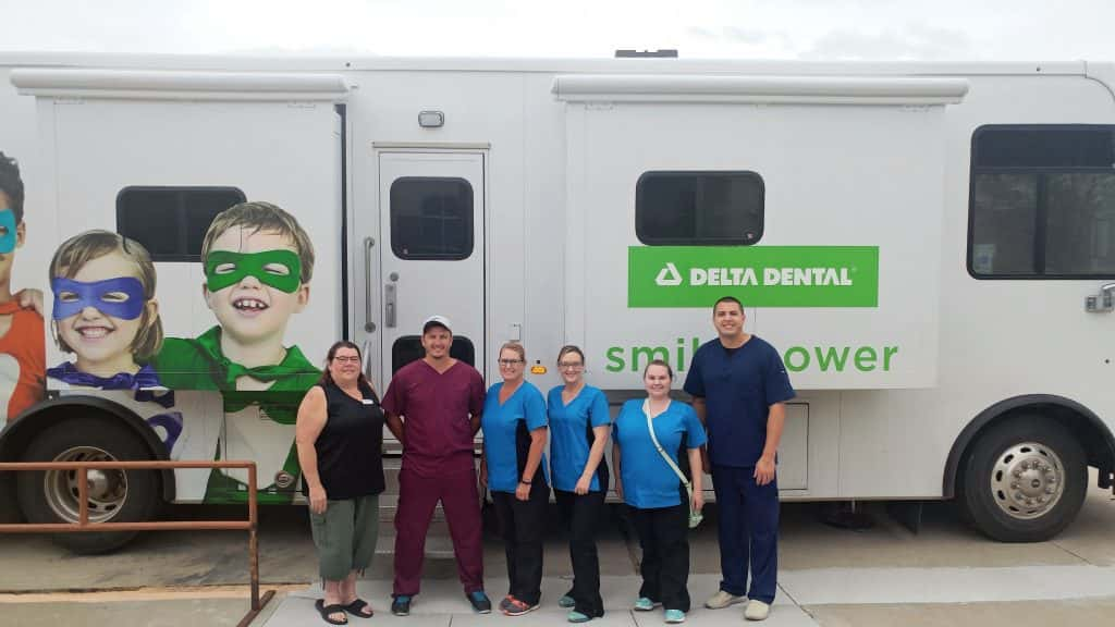 Flandreau children benefit from Delta Dental Mobile Program