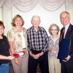 Veteran Honored on 100th Birthday: Bernie VandenBussche of Newark was honored by Assemblyman Bob Oaks on his 100th birthday celebration at the Wayne County Nursing Home attended by over 70 family and friends.