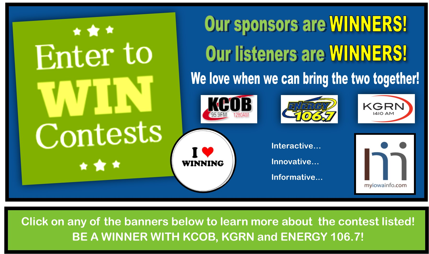 Contest & Promotions Banner