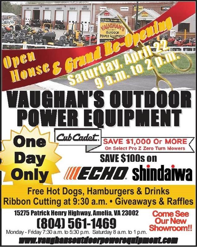 vaugan s outdoor power equipment grand opening todd n tyler radio