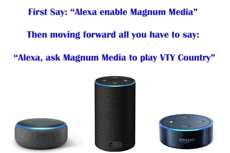 Listen to VTY Country with Alexa!