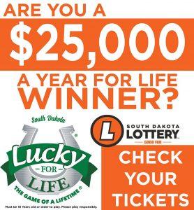 Lottery ticket sold in Brookings worth $390,000 | Brookings