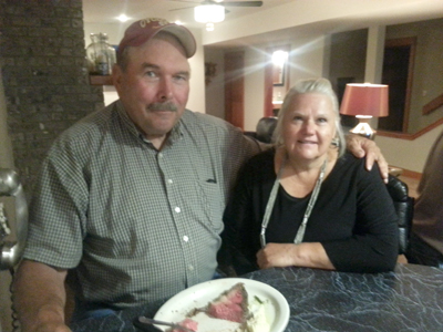 Week 1 Feed the Farmer WINNERS Scott and Sandy Grubbs of Perry, Iowa!