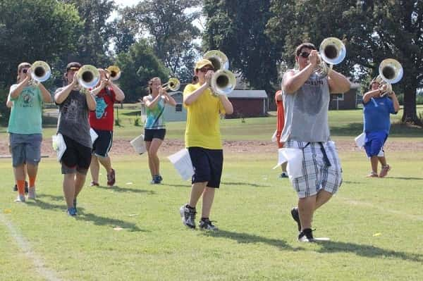 Marching band prepares to take on new season, boosters work