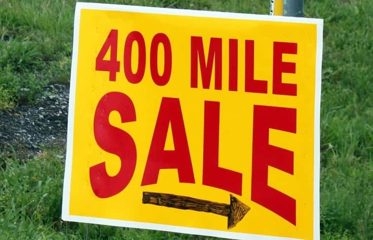 Traffic Advisory along US 68 during 400 Mile Yard Sale