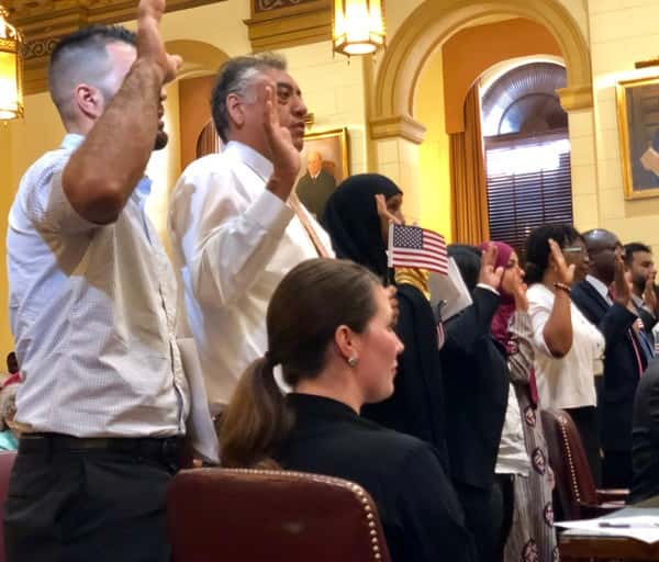 Grimes Celebrates 95th Naturalization with Kentucky's Newest